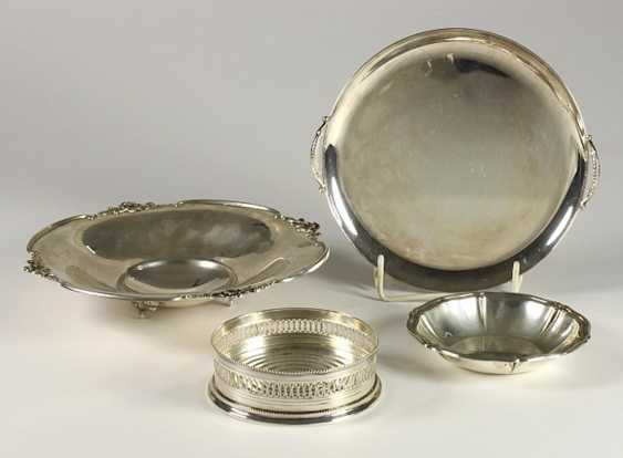 4 decorative bowls silver - photo 1