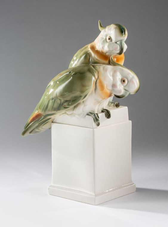 Pair Of Bonnet Parrots - photo 1