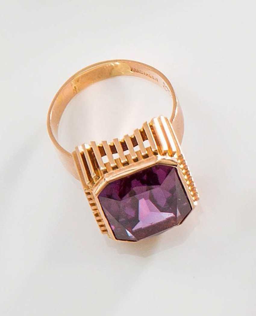 Fine Amethyst Ring, - photo 1
