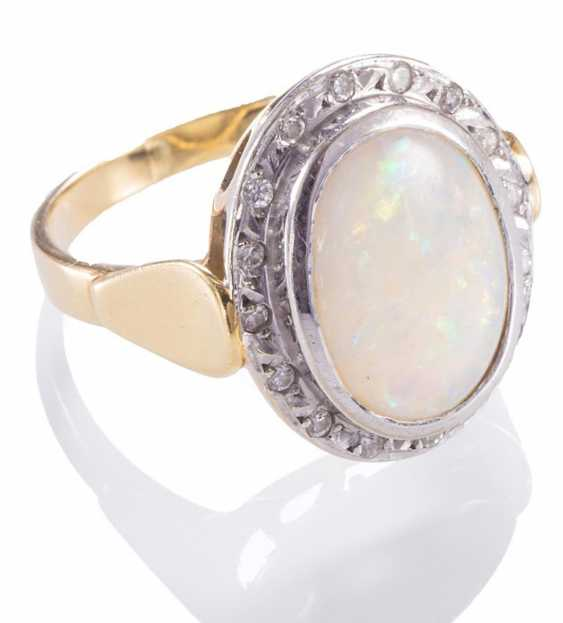 Ladies ring with Opal, - photo 1