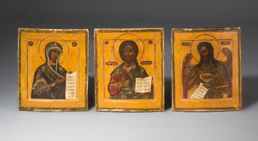 3 Russian Icons, - photo 1