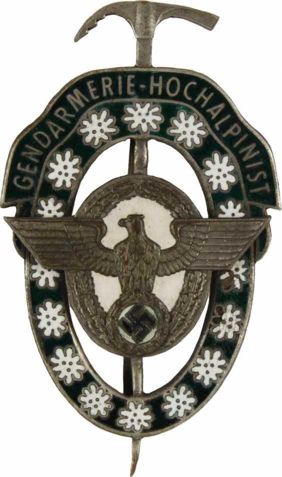 Gendarmerie-High-Alpinist Badge, - photo 1