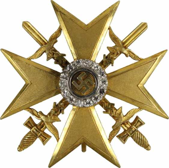 Spanish cross in Gold with swords and diamonds - photo 1