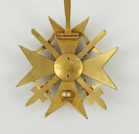 Spanish cross in Gold with swords and diamonds - photo 2
