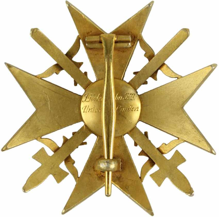 Spanish cross in Gold with swords and diamonds - photo 3