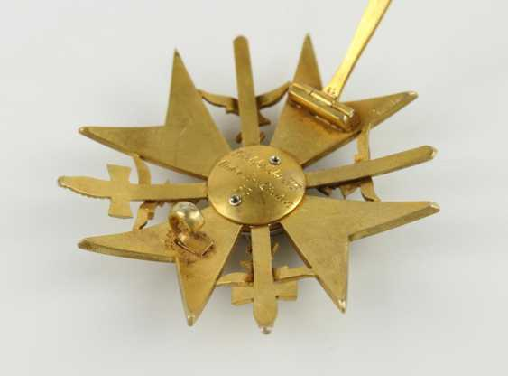 Spanish cross in Gold with swords and diamonds - photo 4