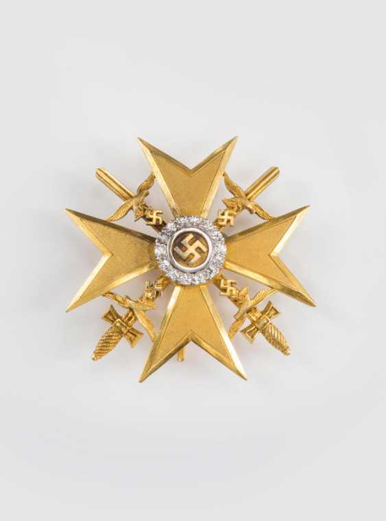 Spanish cross in Gold with swords and diamonds - photo 5
