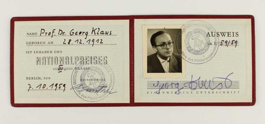 National prize of the GDR in 1959,  - photo 2