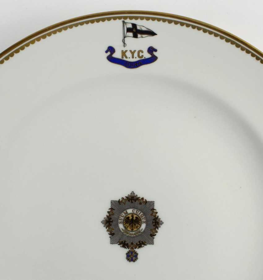 "Dinner plate, I. M. Yacht ""IDUNA"". - photo 3"