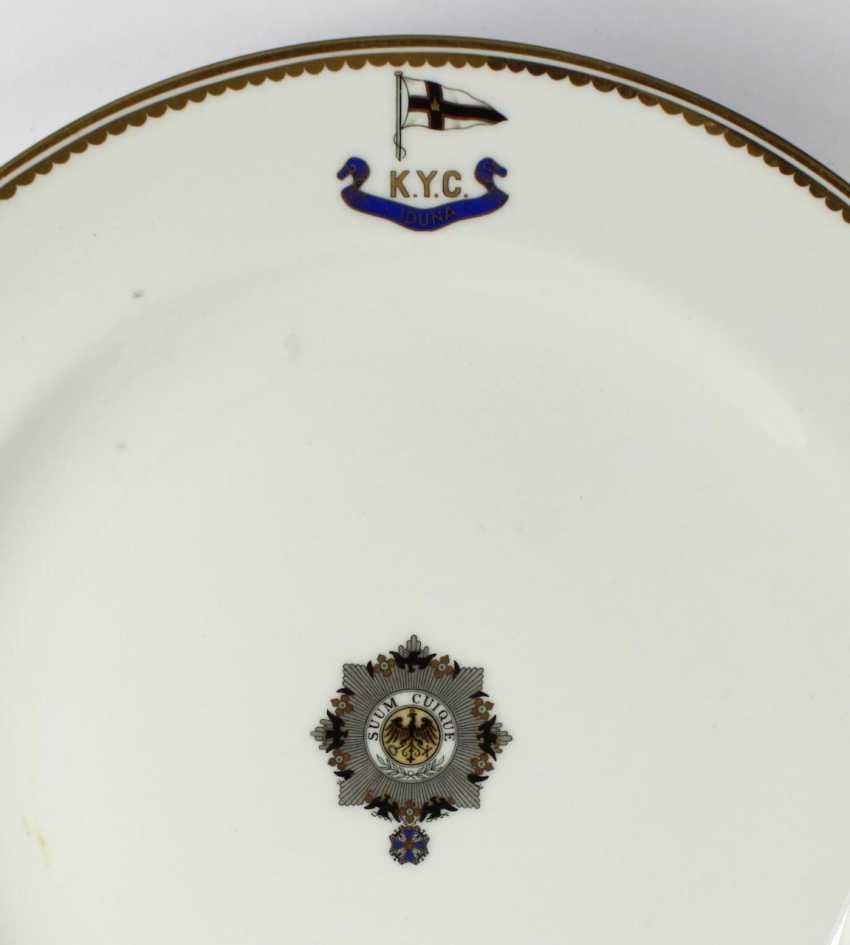"Pair of plates, I. M. Yacht ""IDUNA"". - photo 2"
