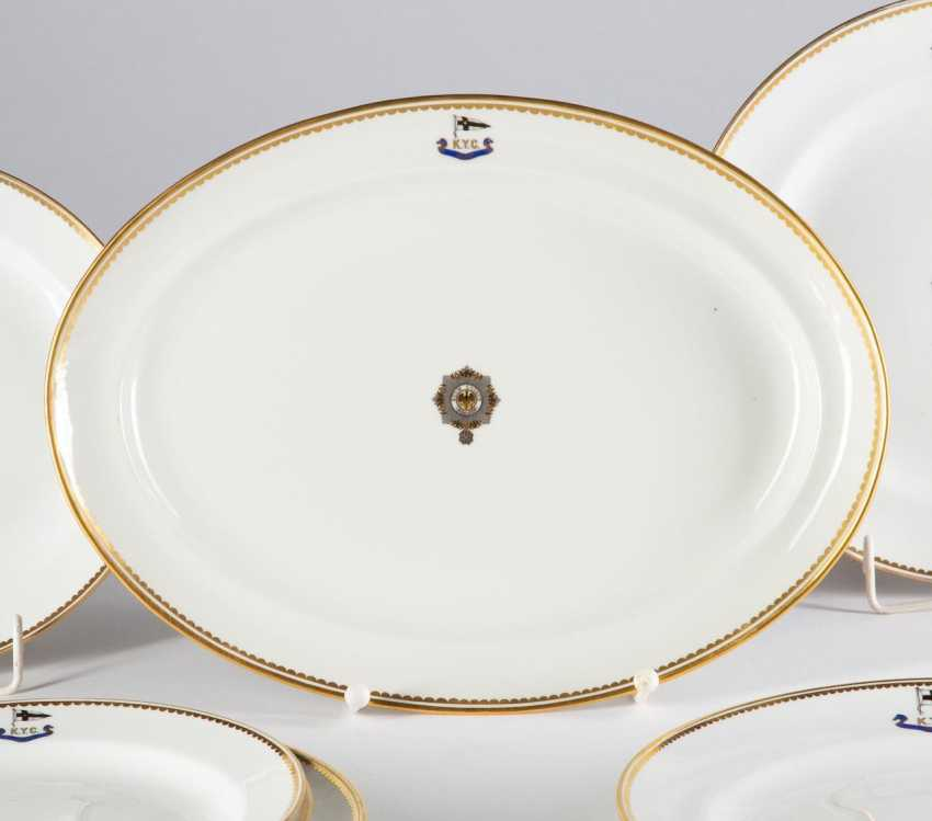 "Oval dining plate I. M. Yacht ""IDUNA"". - photo 1"