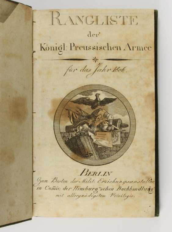 Ranking of the Königl. Prussian Army  - photo 1