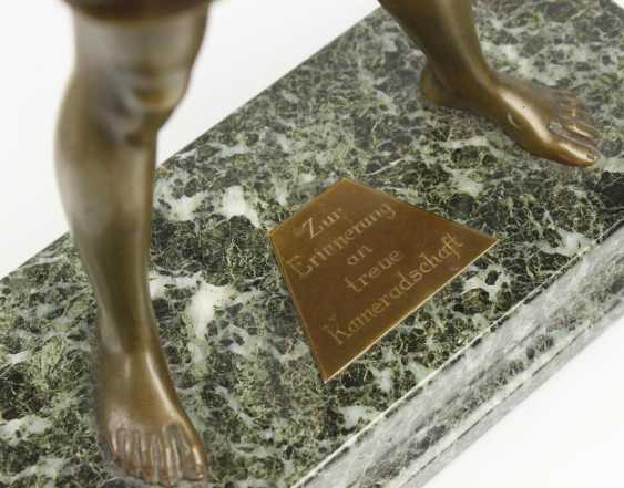 Bronze of a Hitler youth, - photo 2