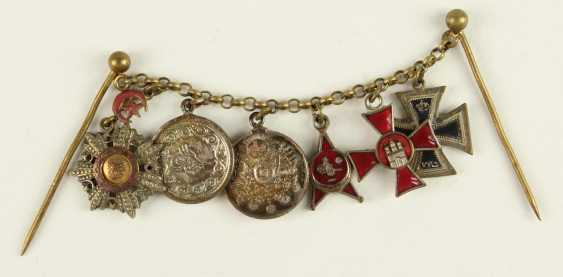 Miniature bracelet with 6 decorations, - photo 1