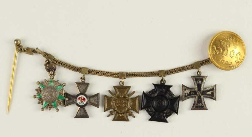 Miniature chain with 5 awards: - photo 1
