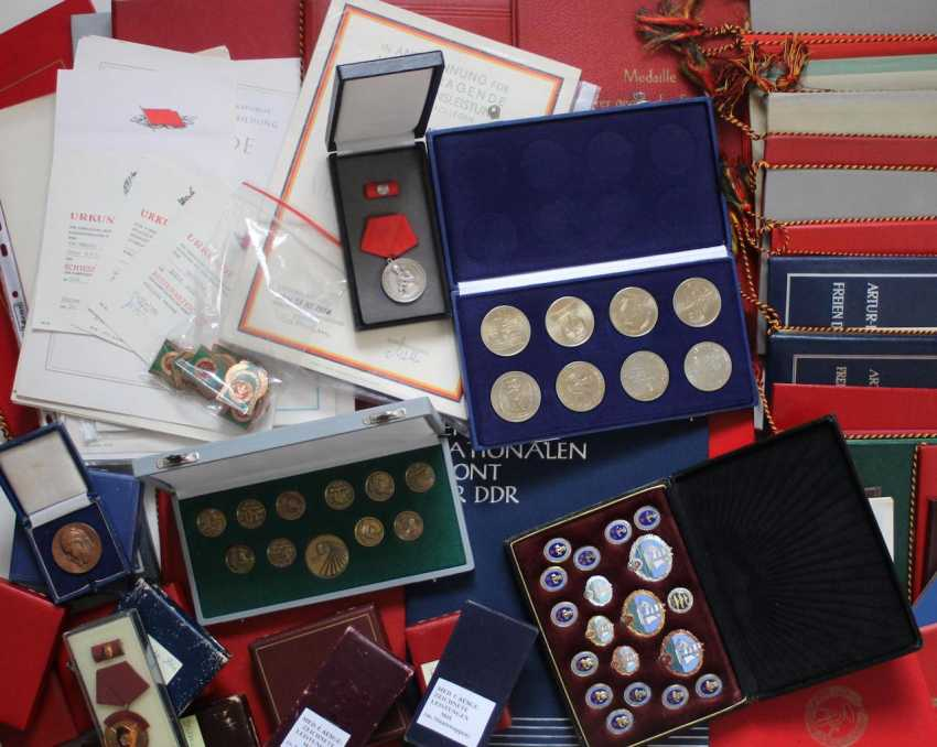 Collection of approximately 50 medals - photo 1