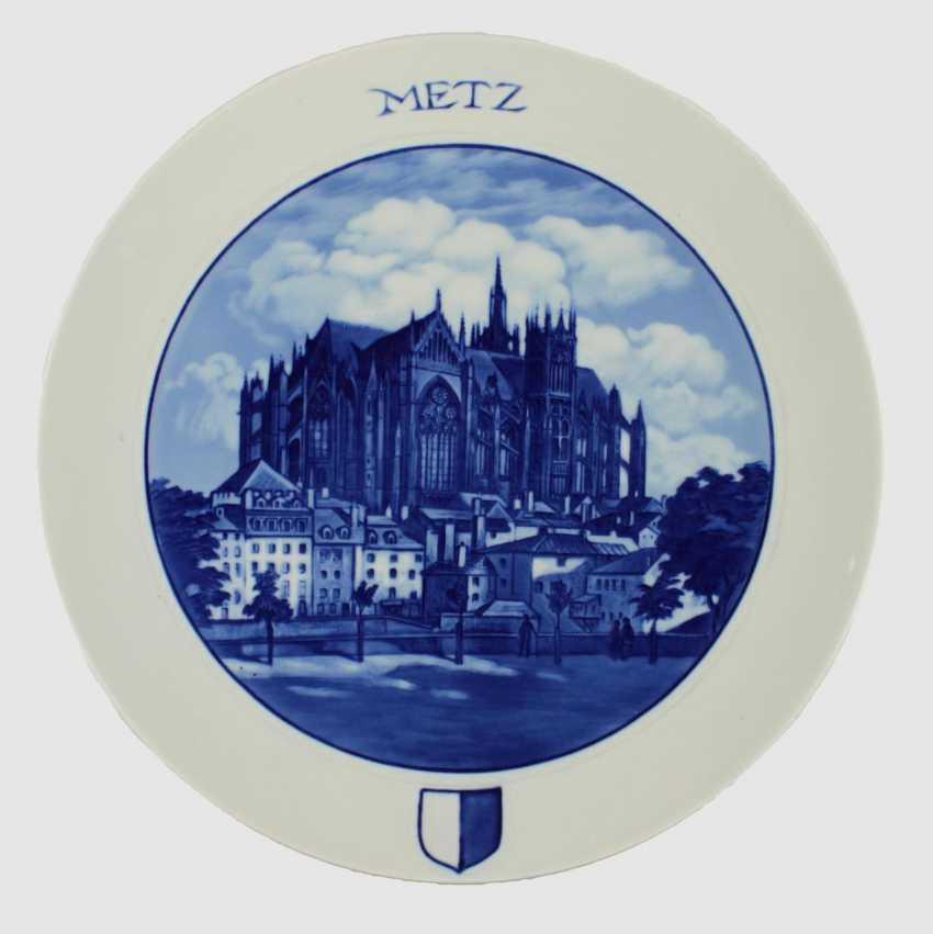Meissen Commemorative Plate Metz, - photo 1