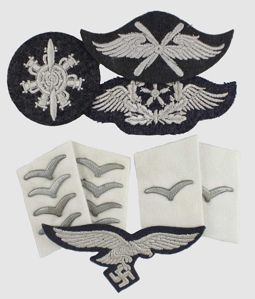 2 Pair of collar tabs, a breast eagle  - photo 1