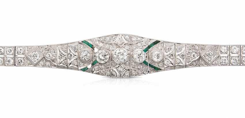 Diamant-Smaragd-Bracelet - photo 1