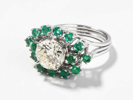 Diamant-Smaragd-Ring - photo 1