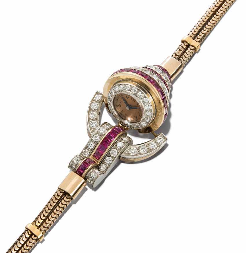 Brilliant-Ruby Ladies Wristwatch - photo 1