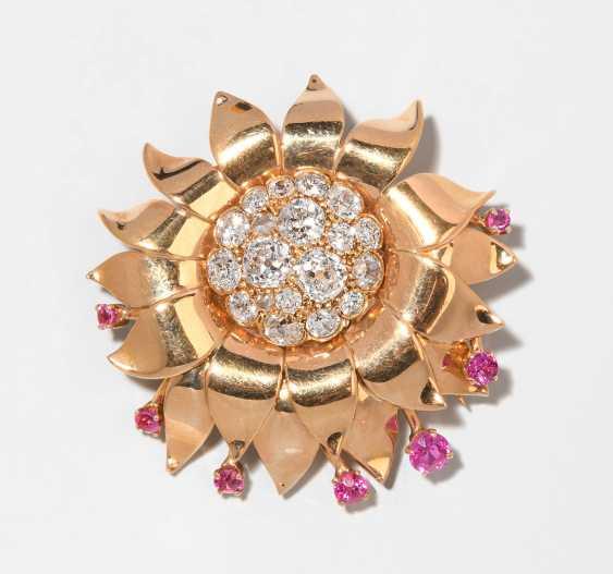 Diamant-Rubin-Brosche - photo 1
