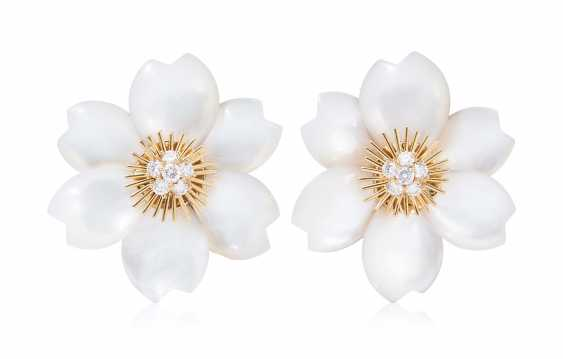 Brilliant Mother-Of-Pearl Stud Earrings - photo 1
