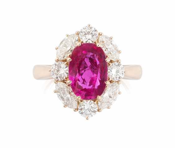Burmarubin-Diamant-Ring - photo 1