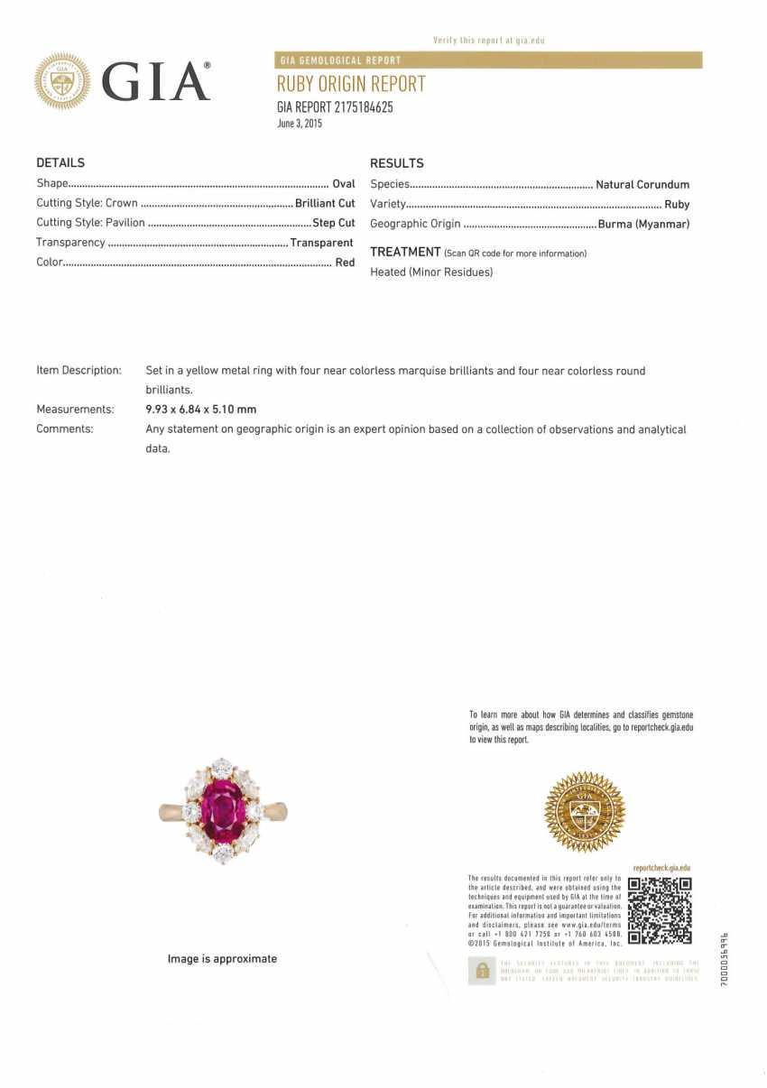 Burmarubin-Diamant-Ring - photo 2