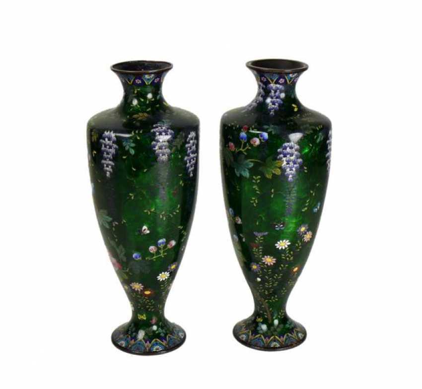 Pair Of Cloisonné Vases - photo 1