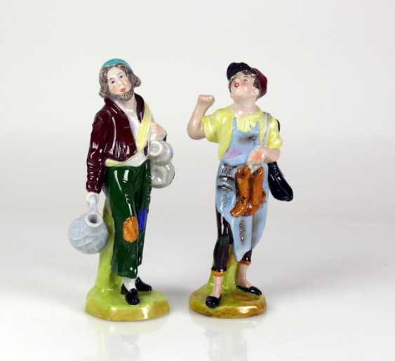 Pair Of Porcelain Figures - photo 1