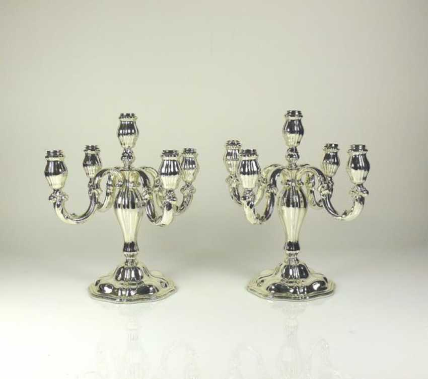Pair of 5-lamp chandelier - photo 1