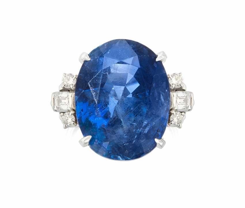 Burma Saphir-Diamant-Ring - photo 1