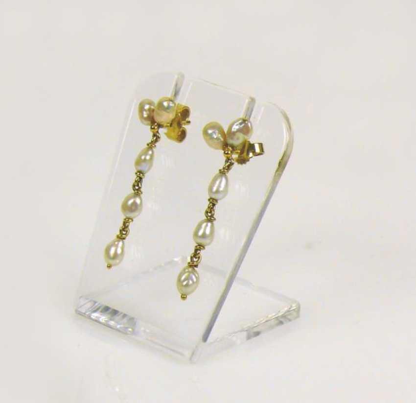 Pair Of Pearl Stud Earrings - photo 1