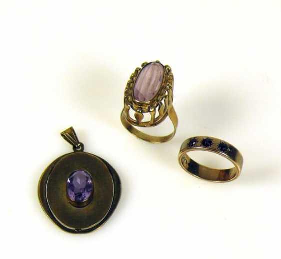 2 div. Ladies rings and pendants - photo 1