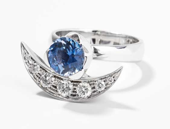 Saphir-Brillant-Ring - photo 1