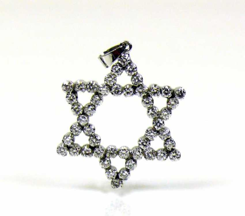 Star Of David Diamond Pendant - photo 1
