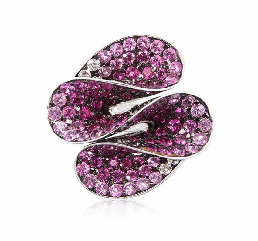 Pinksaphir-Brillant-Ring - photo 1