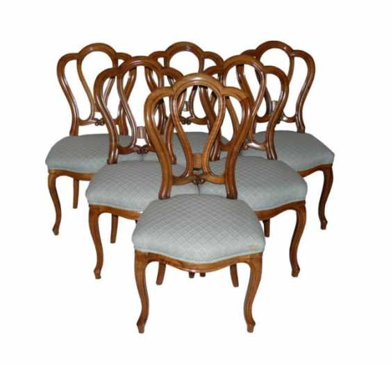 Set of 6 Louis Philippe chairs - photo 1