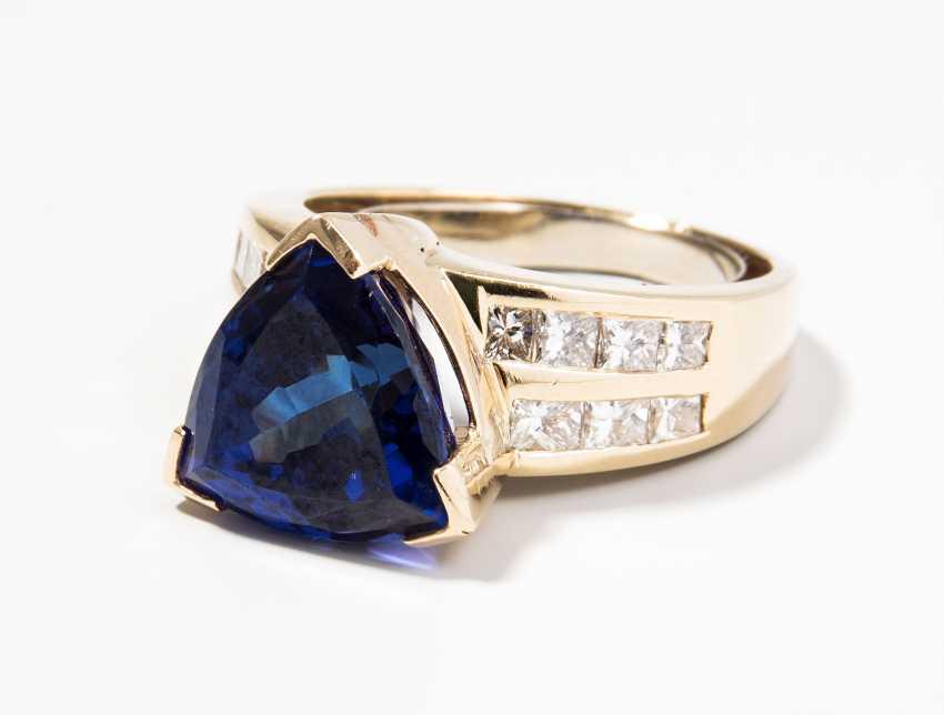 Tansanit-Diamant-Ring - photo 1