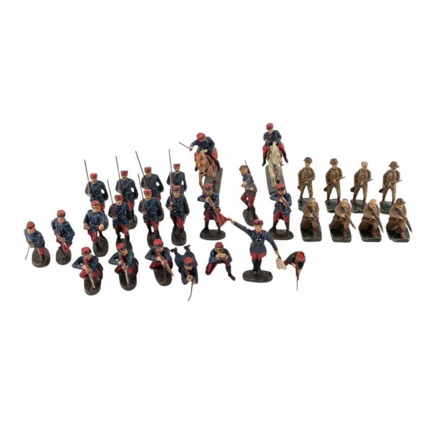 ELASTOLIN, among other things, collection of 30 soldiers, - photo 1