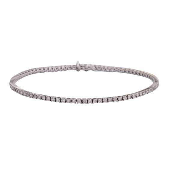 "Bracelet ""tennis band"" with brilliant-cut diamonds, approx 1.7 ct, - photo 1"