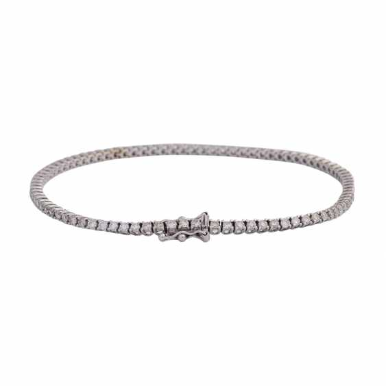 "Bracelet ""tennis band"" with brilliant-cut diamonds, approx 1.7 ct, - photo 2"