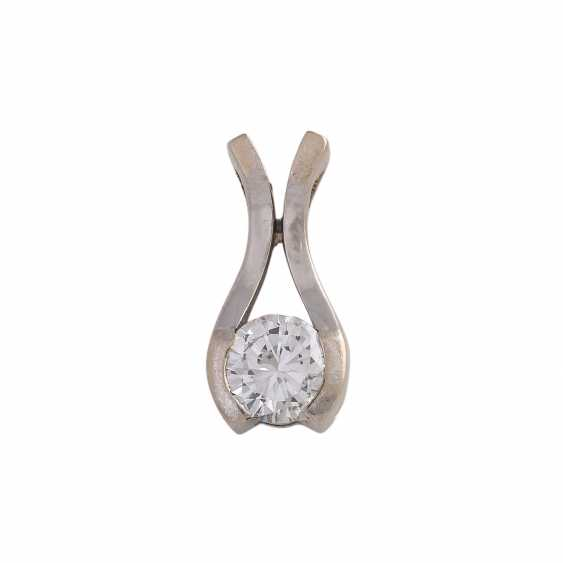 Solitaire pendant with brilliant, approximately 0.4 ct, WHITE (H)/SI1, - photo 1