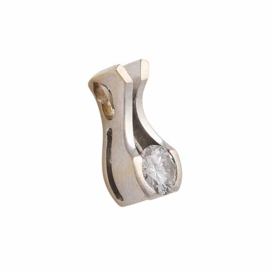 Solitaire pendant with brilliant, approximately 0.4 ct, WHITE (H)/SI1, - photo 2