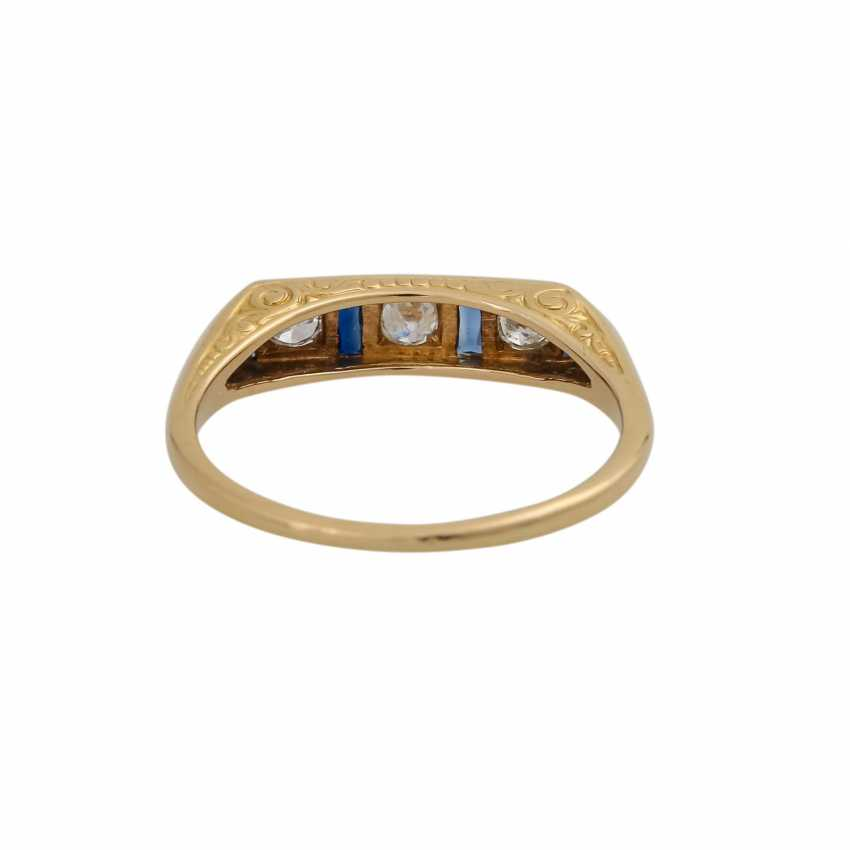 Art Deco Ring with 3 diamonds, approx 0.24 ct, - photo 4