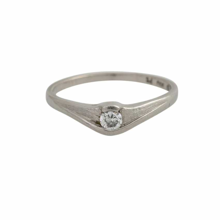 Set of 2 dainty rings with 1 diamond, - photo 5