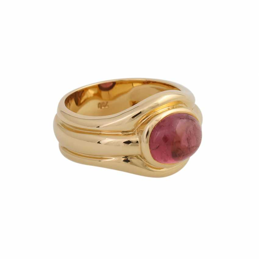 Ring with a pink tourmaline cabochon, oval, approx. 3,5 ct., - photo 2
