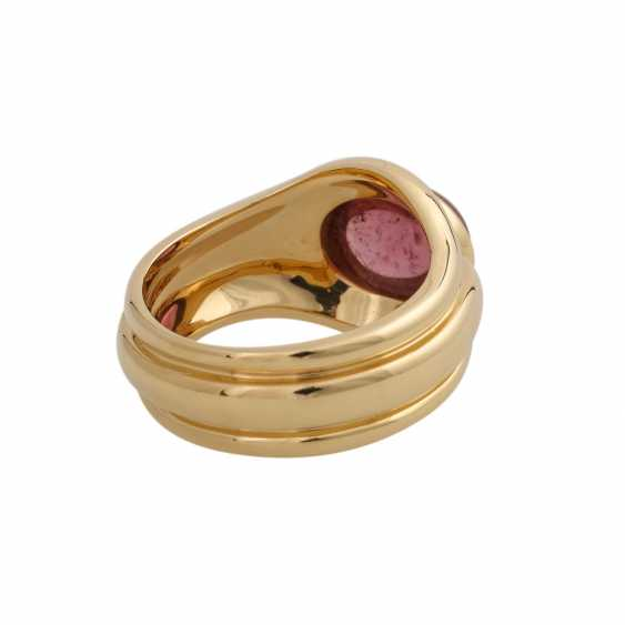 Ring with a pink tourmaline cabochon, oval, approx. 3,5 ct., - photo 3