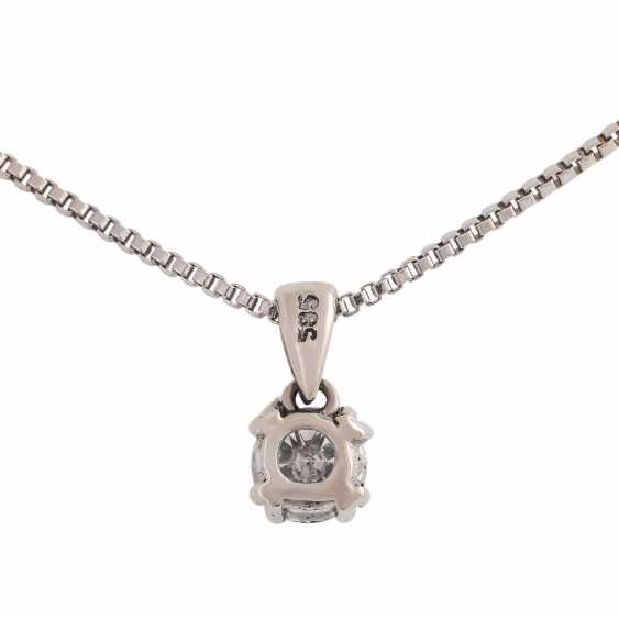Solitaire pendant, set with diamonds, approx 0.5 ct, LGW (I-J)/SI-P1 - photo 2